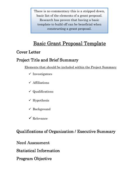 Best Photos Of Basic Project Proposal Template Sle Project Proposal Template Basic Grant Basic Bid Template