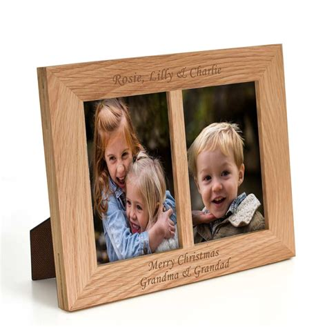 in frame personalised oak landscape photo frame
