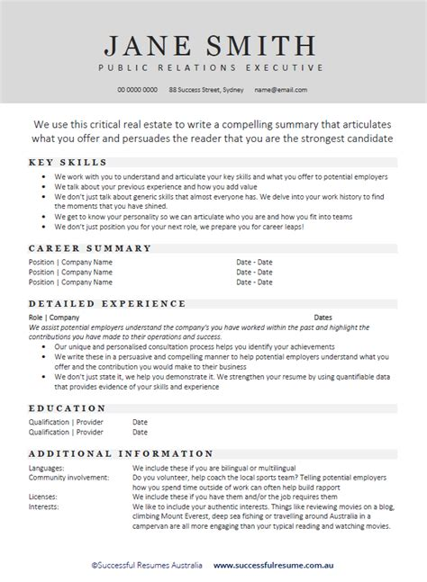resume writing services australia best exle australia resume contemporary resume ideas