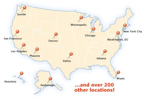 us map with important cities image gallery major cities