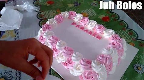 bolo decorado flores o bico 1m youtube - Youtube De Bolos Decorados
