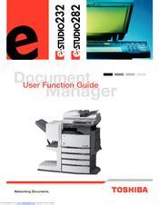 Toshiba E Studio 282 Manuals