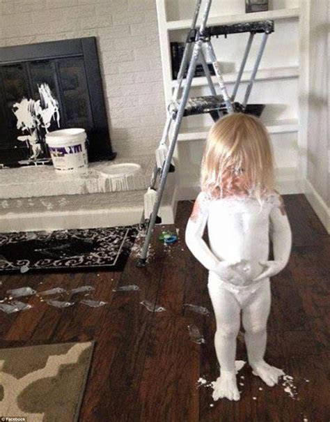little girl going to the bathroom parents share photos of the mess their children make on