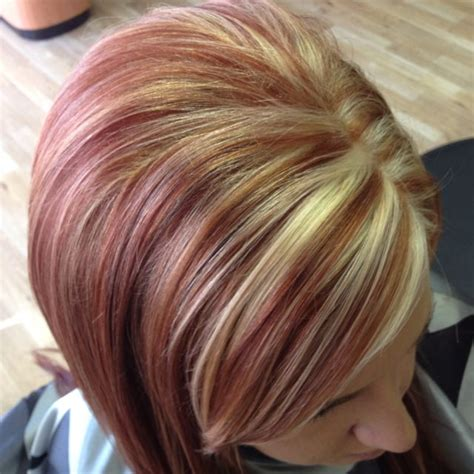 blonde and copper hairstyles red copper base color with buttery highlights love