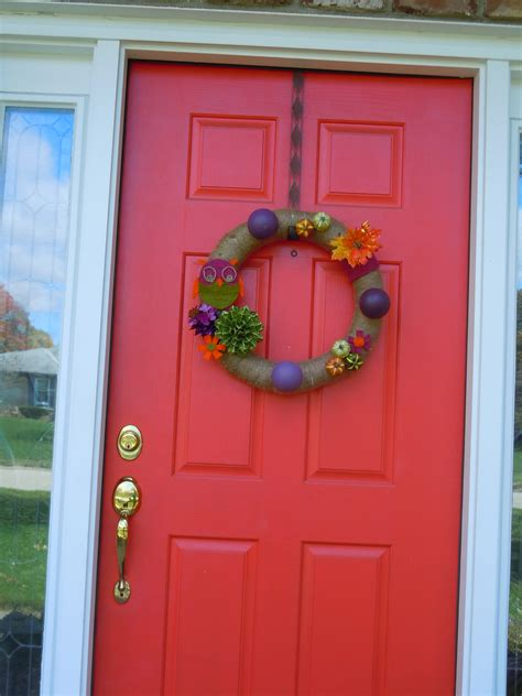 our nutty orange front door you say hideous we say