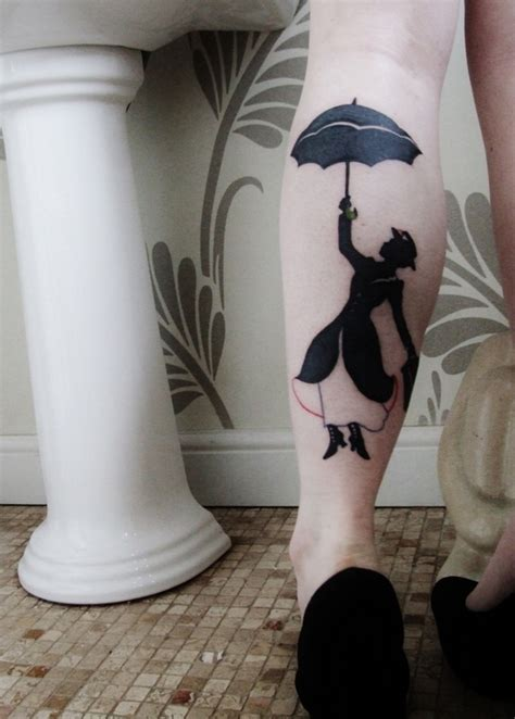 mary poppins tattoo poppins leg best design ideas