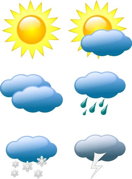 Weather Symbols clip art Free vector in Open office ... Free Clip Art Weather Pictures