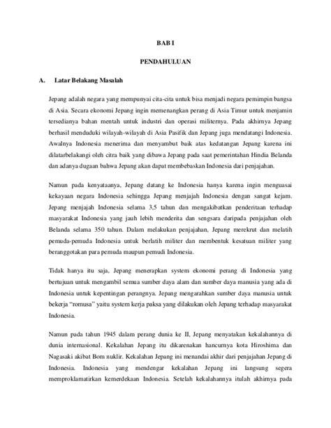 latar belakang jepang membentuk bpupki kerjasama indonesia jepang