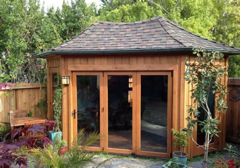 Backyard Shed Office Plans Five Sided Shed Summerstyle