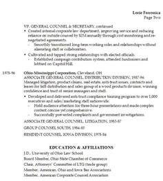 resume chief business law legal administrative officer