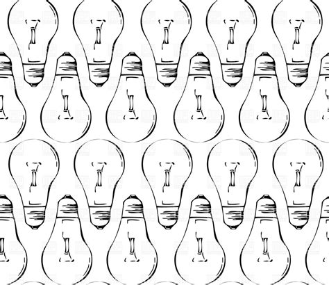 pattern of a christmas light bulb seamless pattern made of silhouette of black light bulbs