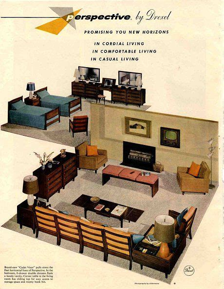 1960s drexel perspective dining room furniture ad 35 best mid century modern drexel images on pinterest