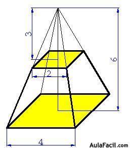pirámide de base cuadrada vol 250 men del tronco de la pir 225 mide c 225 lculo de vol 250 menes