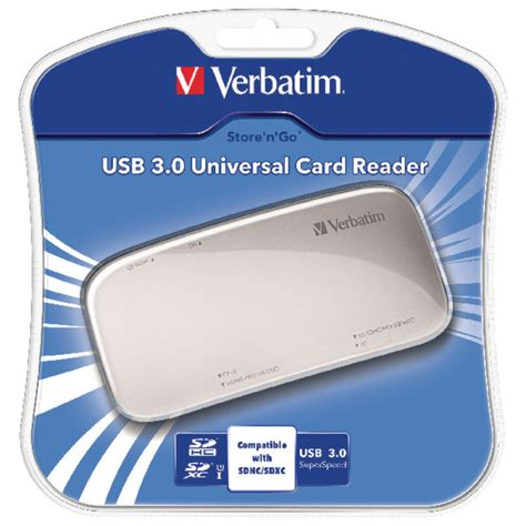 Card Reader Verbatim 64624 Usb 3 0 verbatim usb 3 0 memory card reader ebuyer