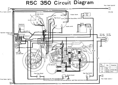 yamaha rd350 r5c wiring diagram evan fell motorcycle