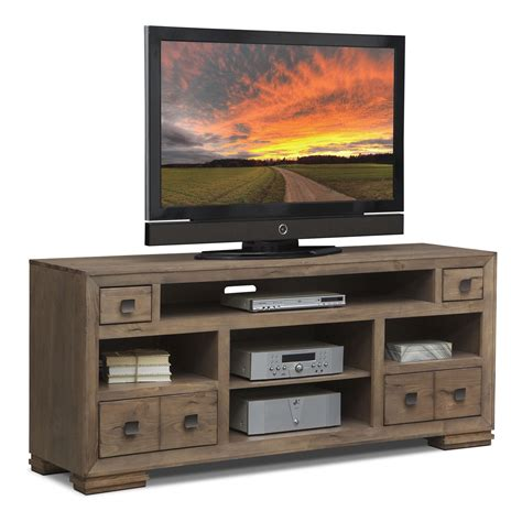 tv stands mesa 74 quot tv stand distressed pine american signature furniture