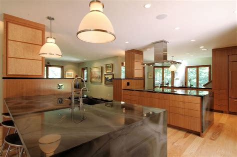 Faucet Kitchen Sink two large island kitchen modern design with waterfall