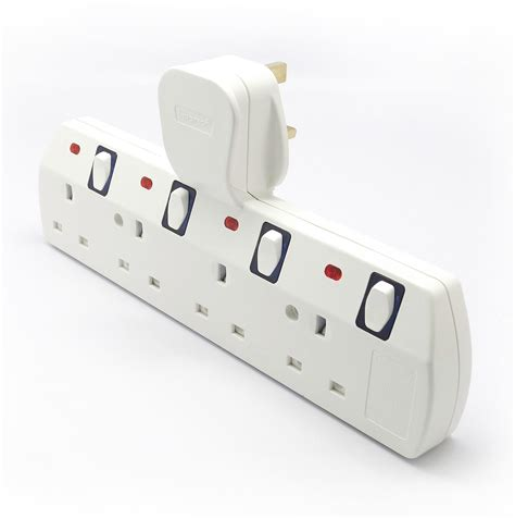 12 Way Multi Socket 1 to 6way switched multi socket extension adaptor