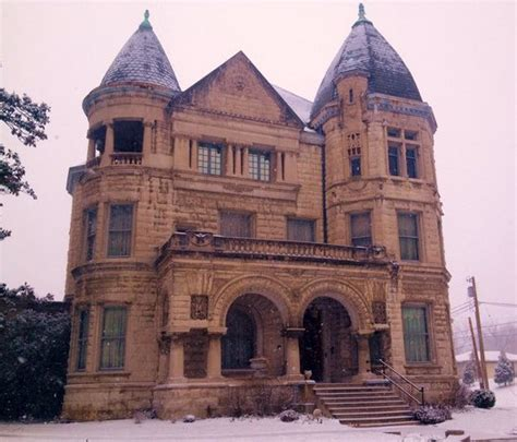 louisville haunted houses the famous and haunted conrad caldwell house on a wintry day picture of
