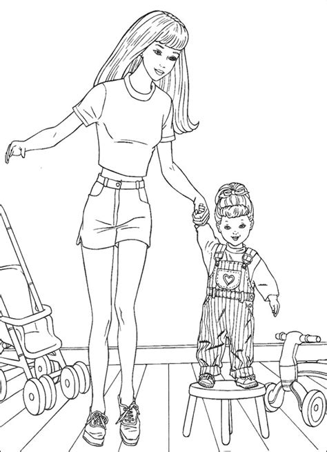 barbie cartoon coloring pages barbie with baby coloring pages barbie dolls cartoon