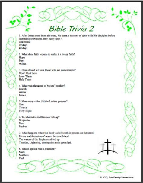 answers to your bible questions books bible trivia ii covers many areas from cover to cover