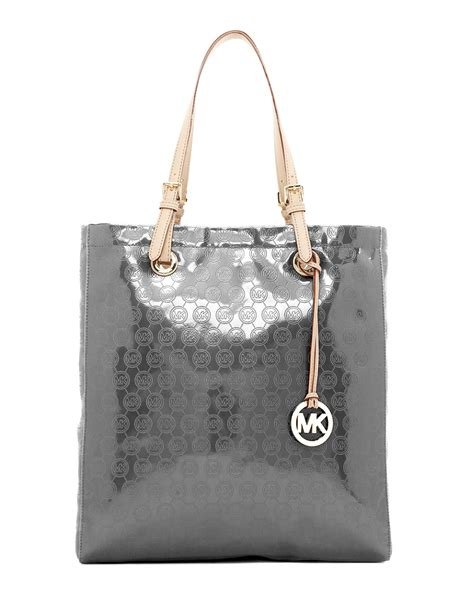 Michael By Michael Kors Ranger Patent Bag by Lyst Michael Michael Kors Jet Set Monogram Patent Tote