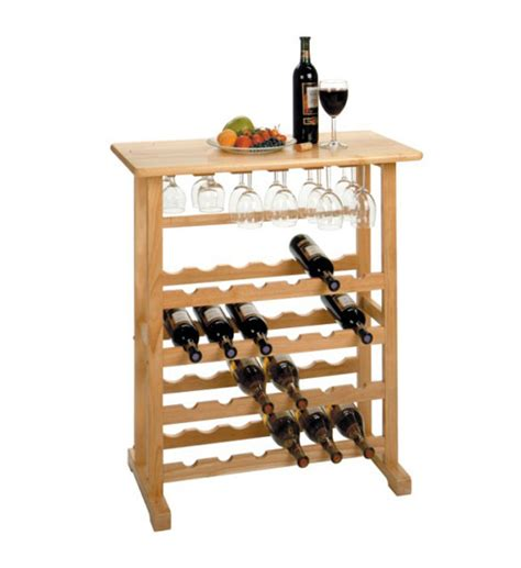 Wine Wood Rack by Wooden Wine And Stemware Rack In Wine Racks And