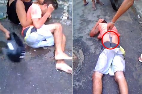 badly boy thief brazen thief is savagely beaten by and villagers