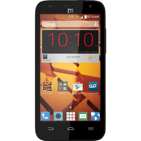 boost mobile boost mobile zte speed pre paid cell phone tvs