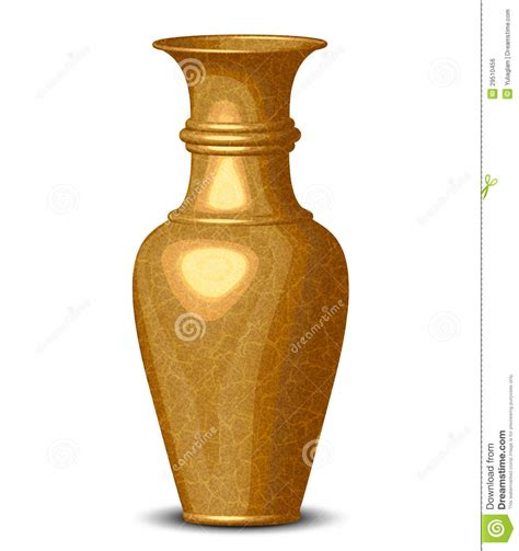 Golden Vase by Golden Shiny Vase Royalty Free Stock Image Image 29510456