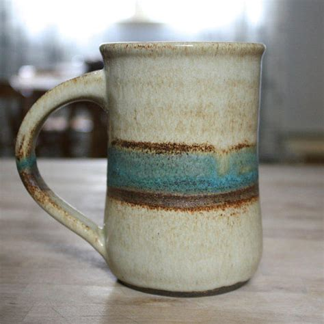 large handmade ceramic coffee mug from