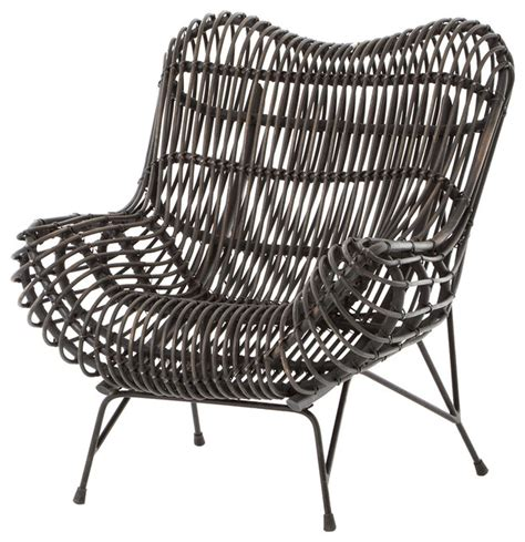 modern wicker accent chairs cowan modern classic black metal wicker chair modern