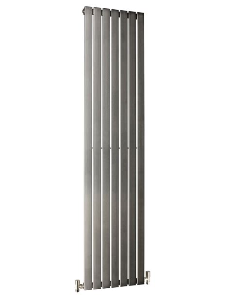 stainless steel radiators for bathrooms dq heating delta brushed stainless steel radiator 2000mm