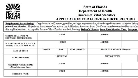 Florida Vital Records Birth Certificate Florida Birth Records Genealogy Storytelling
