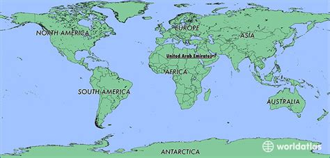 united arab emirates on a world map where is the united arab emirates where is the united