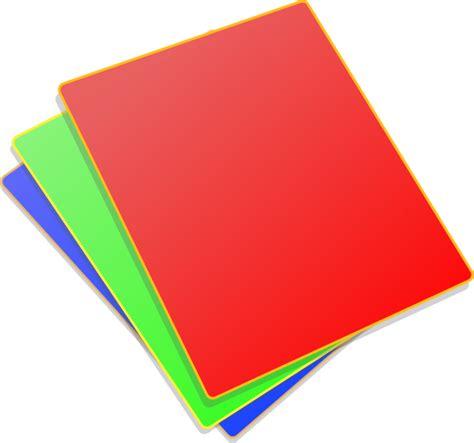 paper colors colored paper clip at clker vector clip