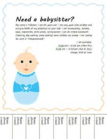 Babysitting Flyer Free Template by Babysitting Flyers And Ideas 16 Free Templates