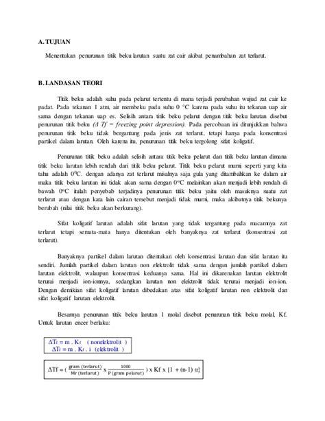 laporan praktikum tentang membuat larutan laporan praktikum sifat kolegatif larutan