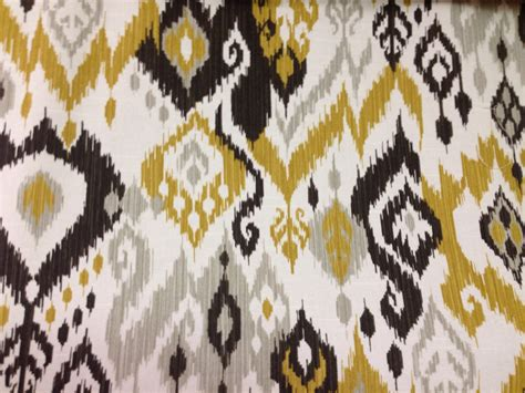 ikat drapery fabric black and yellow ikat fabric ikat drapery fabric by