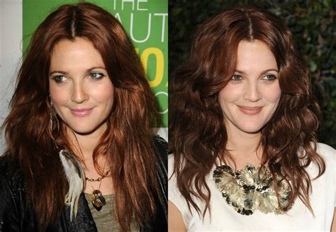 drew barrymore hair color warm auburn hair colors for cold fall winter 2017