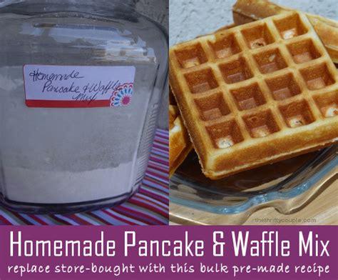 homemade pancake  waffle mix replace store bought