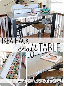 ikea hack craft table craft paint storage finding
