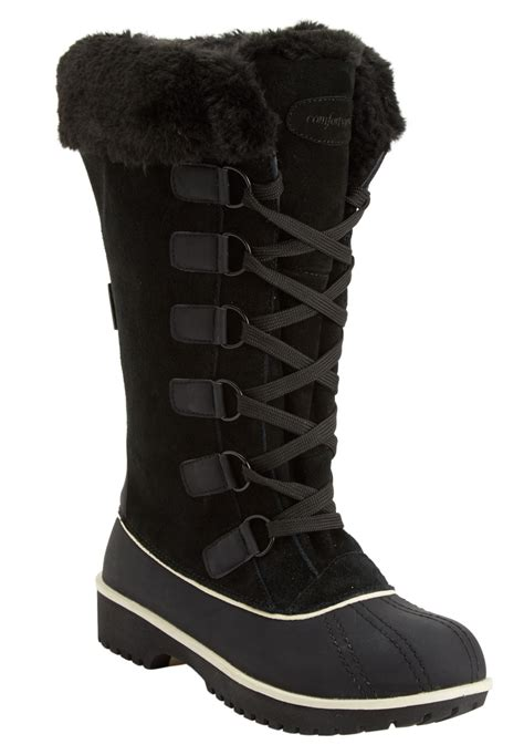 wide width boots for comfortview 174 toby waterproof wide calf boot plus size