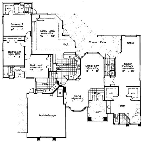 grand designs floor plans gulf gate spanish sunbelt home plan 047d 0047 house