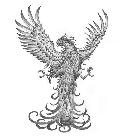 phoenix tattoo white ink grey ink phoenix with spread legs tattoo design by tribal