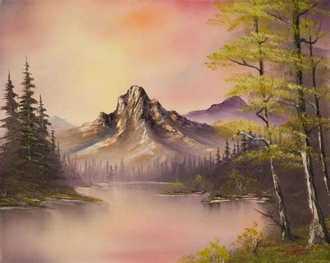 bob ross painting lake bob ross luminous lake painting bob ross luminous lake