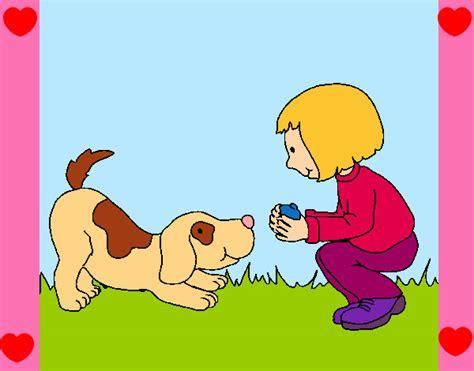 imagenes de niños jugando con un perro perro y una ni 241 o animado imagui
