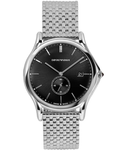 Black Gray Bouverie 40 Mm Watches emporio armani emporio armani s swiss stainless steel