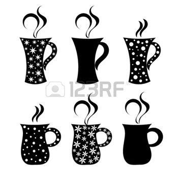 stock vector cookbook pattern illustration coffee