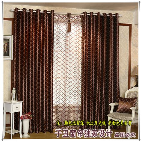 side curtains european style curtains striped cloth curtain double side